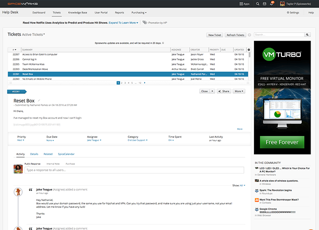 Spiceworks (free helpdesk and inventory solution) - AppDetails