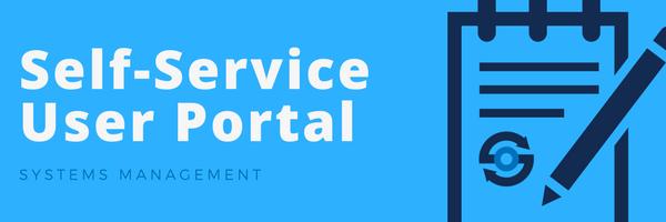Self Service User Portal