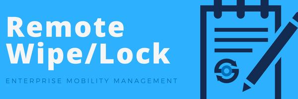 Remote Wipe/Lock