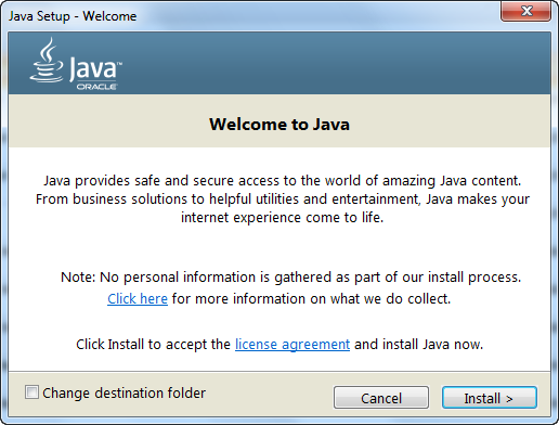 java machine for windows 7